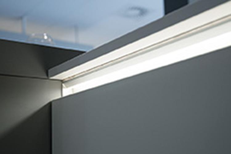 Beleuchtetes LED-Griffmulde