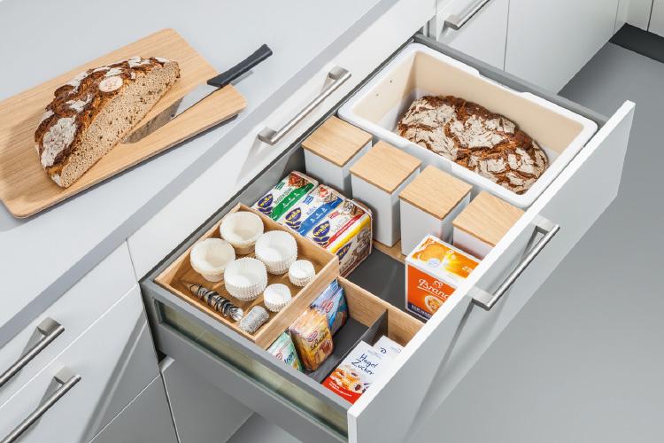 Brotbox mit Flex-Boxen in Schublade
